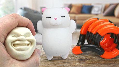 Antistresové hračky: minikočička i Faceball
