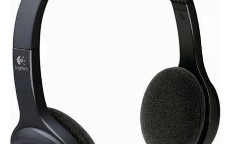 Headset Logitech Wireless H600 černý (981-000342)