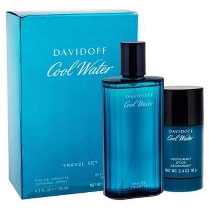 Davidoff Cool Water dárková kazeta pro muže toaletní voda 125 ml + deostick 75 ml