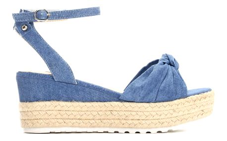Dámské tmavě modré sandály na klínku Renesmé 6092