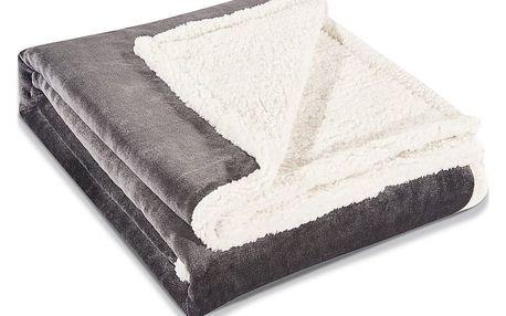 Šedá deka z mikrovlákna DecoKing Teddy, 150 x 200 cm