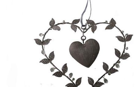 Závěsné dekorativní srdce Antic Line Loving