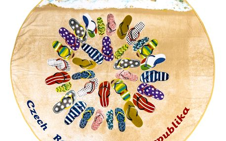 JAHU Plážová osuška micro Flip-Flops, 150 cm