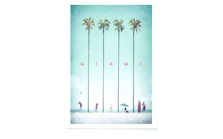 Plakát Travelposter Miami, A2