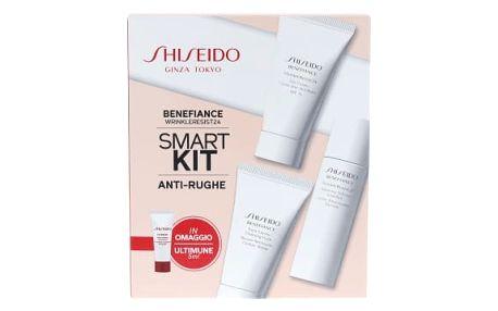 Shiseido Benefiance Wrinkle Resist 24 SPF15 dárková kazeta proti vráskám pro ženy WrinkleResist24 Day Cream SPF15 30 ml + WrinkleResist24 Softener Enriched 30 ml + Cleansing Foam 30 m + ULTIMUNE Power Infusing Concentrate 5 ml