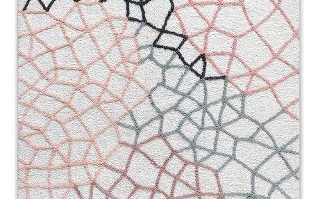 Černobílý ručně tkaný koberec HF Living Net, 140 x 200 cm