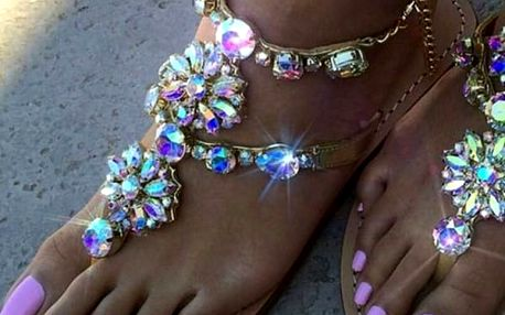 Nádherné sandálky s kamínky - 3 varianty
