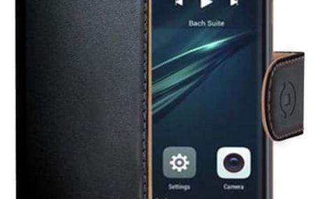 Pouzdro na mobil flipové Celly Wally pro Huawei Y6 II Compact černé (WALLY608)