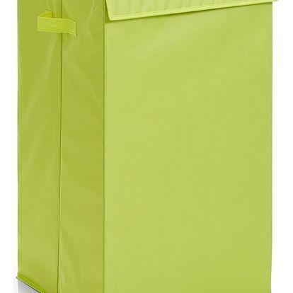Taška na špinavé prádlo, oděvy - koš, 72 l, zelená barva, ZELLER