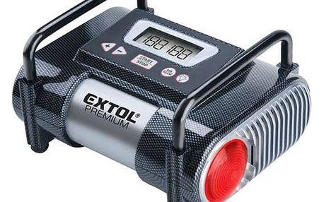 EXTOL Kompresor Premium do auta, s LCD a světlem CC140