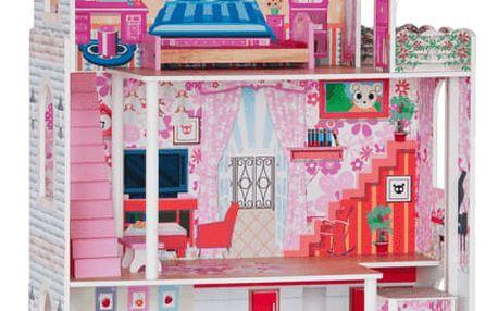 WOODY Domeček - velký, 7 ks nábytku (pro panenky typu Barbie)