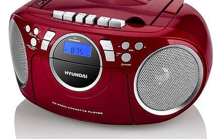 Radiopřijímač s CD Hyundai TRC 788 AU3RS stříbrný/červený