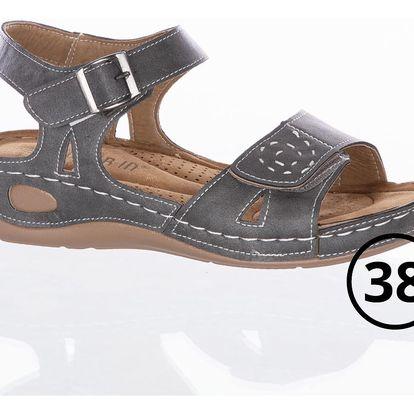 Super In Dámské sandály se suchým zipém a zapínáním na háček - VYPRODEJ!