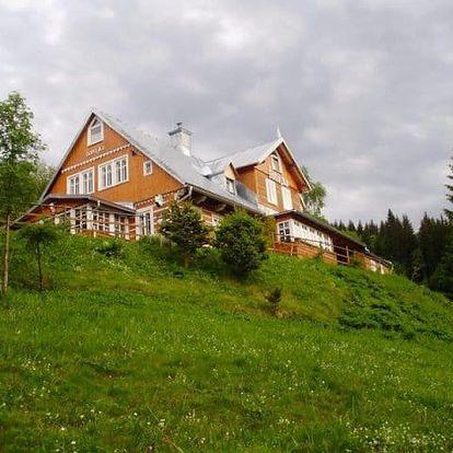 Jaro/léto v Peci pod Sněžkou pro dva s polopenzí a jízdou na koni