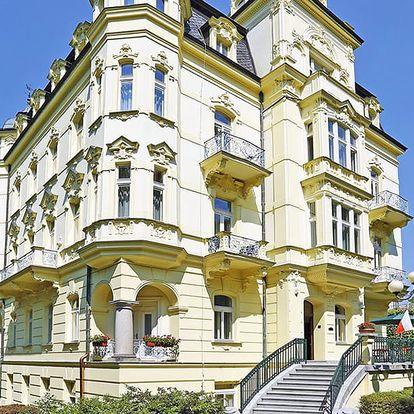 Rozmarné léto v Karlových Varech v luxusním hotelu nedaleko lázeňské kolonády + wellness služby, bohatá polopenze a další slevy