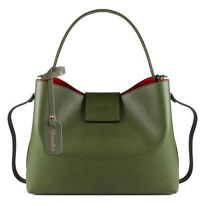 Zelená kožená kabelka Maison Bag Cindy