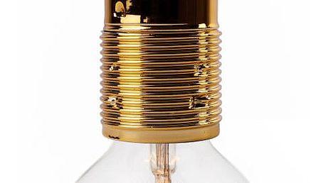 Černé stropní svítidlo se zlatou objímkou Bulb Attack Uno Basic