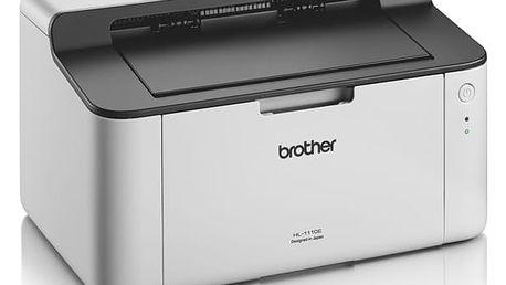 Tiskárna laserová Brother HL-1110E bílá (A4, 20str./min, 2400 x 600, 1 MB, USB) (HL1110EYJ1)