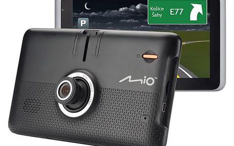Navigační systém GPS Mio MiVue Drive 65LM, Truck/Karavan, s kamerou, mapy EU (44) Lifetime černá + dárek (5262N5380036)