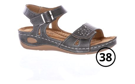 Super In Dámské sandály se suchým zipem a zapínáním na háček - VÝPRODEJ!