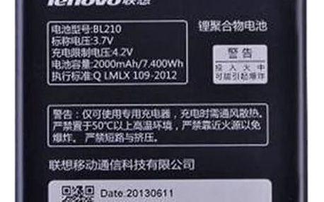 Baterie Lenovo BL210 pro A356, S860, Li-Pol 2000mAh - bulk (8592118812825)