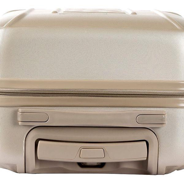 Set béžového kosmetického kufříku a kufru na kolečkách Murano Spider - doprava zdarma!2