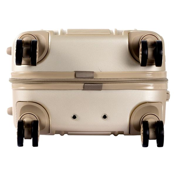 Set béžového kosmetického kufříku a kufru na kolečkách Murano Spider - doprava zdarma!3