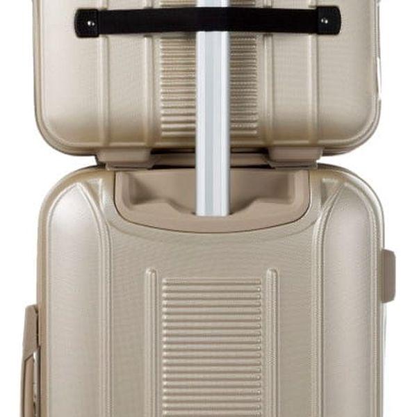 Set béžového kosmetického kufříku a kufru na kolečkách Murano Spider - doprava zdarma!4