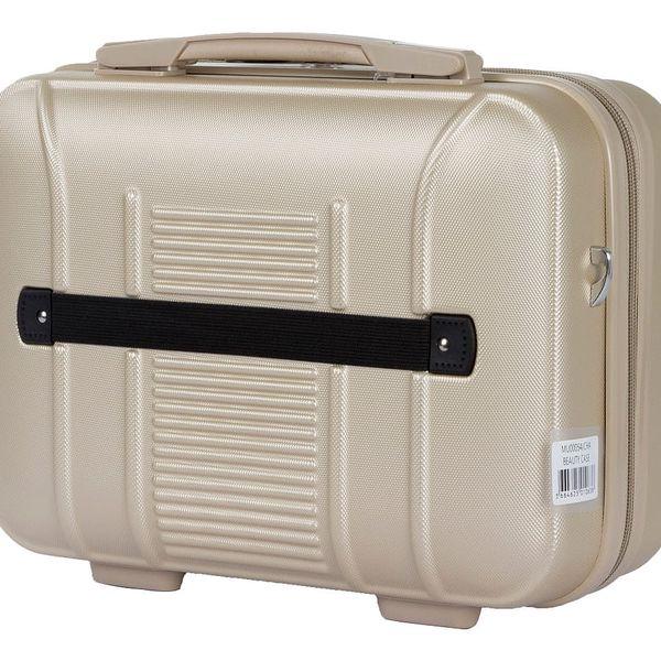 Set béžového kosmetického kufříku a kufru na kolečkách Murano Spider - doprava zdarma!5