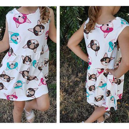 Dívčí šaty Catsy