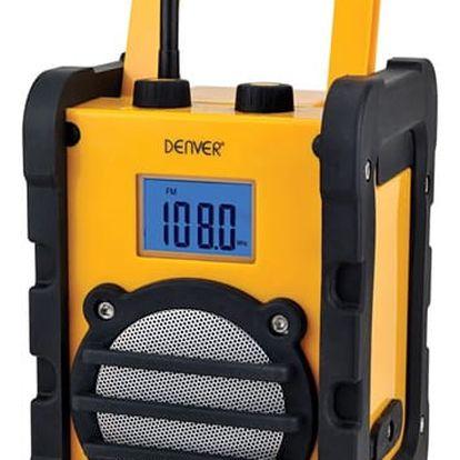 Radiopřijímač Denver WR-40 žlutý (dwr40)