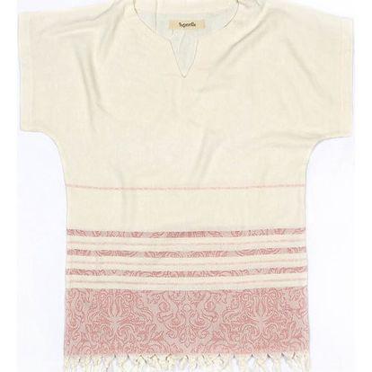Plážová tunika z bavlny a bambusu Begonville Romance