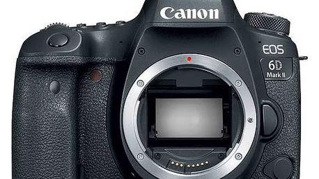 Canon EOS 6D Mark II, tělo + dárek Canon objektiv a blesk (1897C003) černý