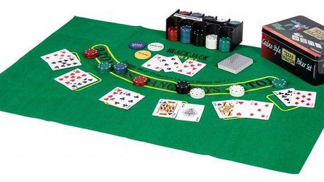 Tuin 46997 Poker žetony 200ks v plechové dóze