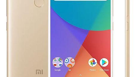 Mobilní telefon Xiaomi Mi A1 64 GB Dual SIM CZ LTE zlatý + dárek (16088)