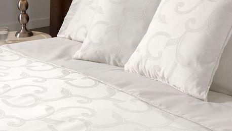 Bavlněné povlečení Muller Textiels Curls Ecru, 200x200cm