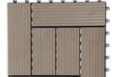 G21 42825 Přechodová lišta pro WPC dlaždice indický teak, 38,5x7,5 cm rohová (levá)