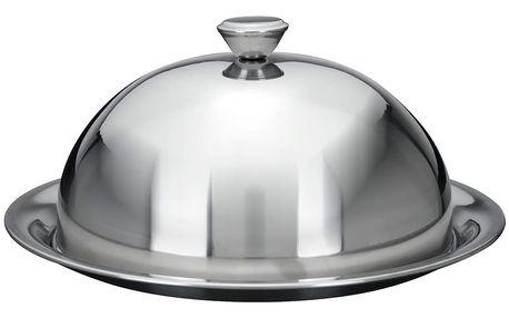 Kovový podnos na koláče a občerstvení s poklopem EH Excellent Houseware