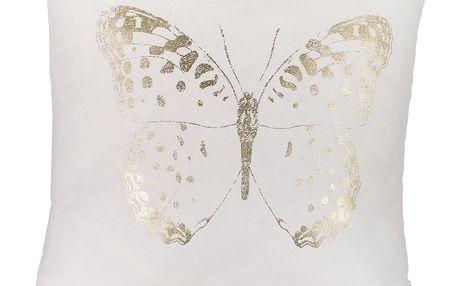 Povlak na polštář Apolena Golden Butterfly, 45x45cm
