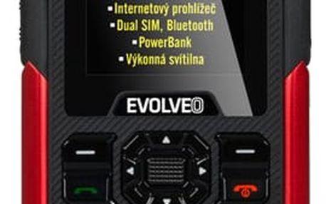 Mobilní telefon Evolveo StrongPhone X3 Dual SIM (SGM SGP-X3-B) černý/červený