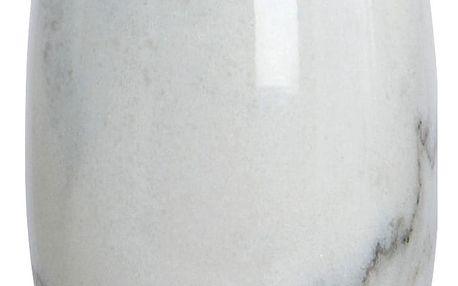 House Doctor Mramorový kelímek na kartáčky Marble, bílá barva