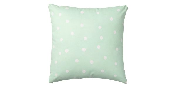Bloomingville Polštář Winter Mint, zelená barva, textil