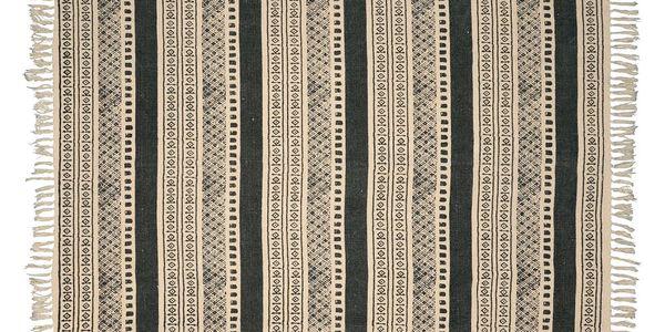 IB LAURSEN Koberec Graphical pattern 130x160, šedá barva, textil