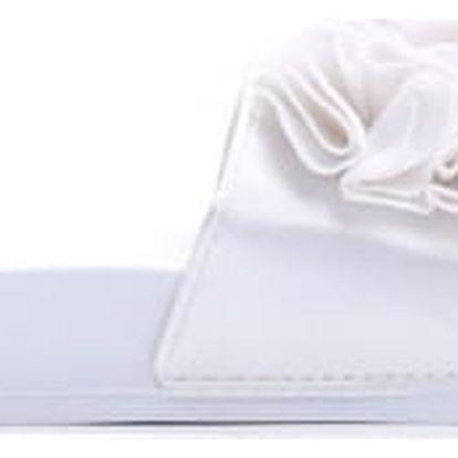 Dámské bílé pantofle Fiona 10731A