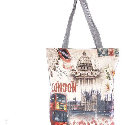 Fashion Icon Plátěná taška velkoměsta Londýn
