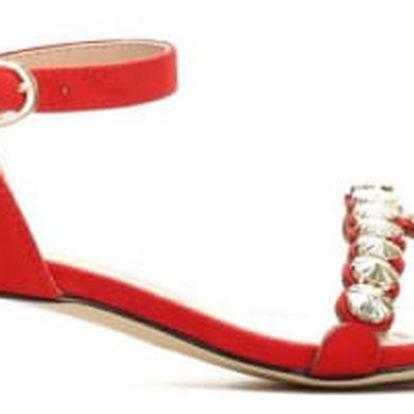 Dámské červené sandály na podpatku Nigela 9176