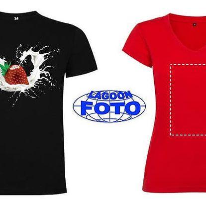 Bílé nebo barevné tričko s vašim vlastním potiskem pro dámy i pány