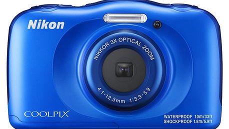 Digitální fotoaparát Nikon Coolpix W100 BACKPACK KIT modrý (VQA011K001)