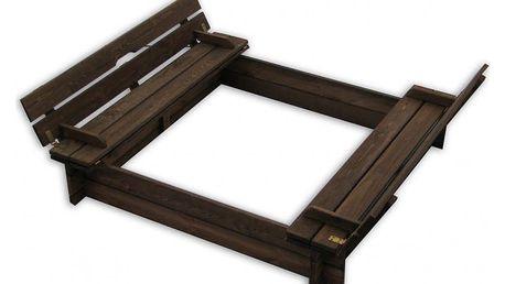 Tradgard 30160 Dřevěné pískoviště s lavičkami