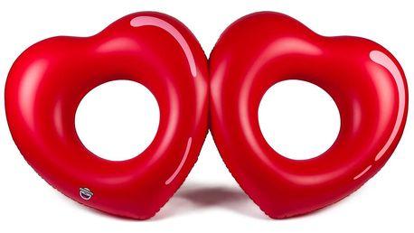 Nafukovací dvojitý kruh ve tvaru srdíček Big Mouth Inc.